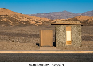 Rest Room on a road in the middle of Death Valley.
