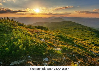 Rest in the summer in the Ukrainian Carpathians with overnight stay in a tent on a mountain top.
