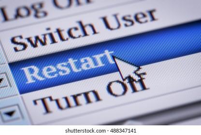 Restart. My own design of program menu.