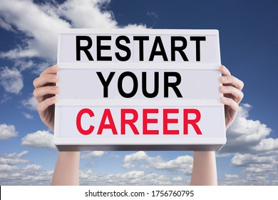 Restart your career with human resources consultancy business concept