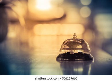 Restaurant bell vintage with blurred background