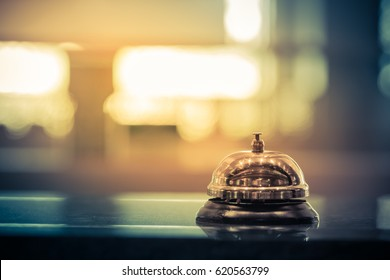 Restaurant bell vintage with bokeh