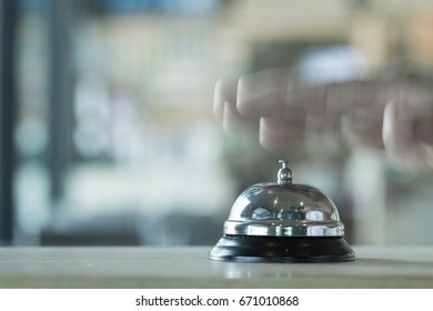 Restaurant bell vintage with hand