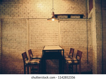 restaurant and coffee shop interior. vintage tone style