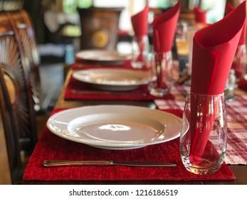 Restaurant decoration table