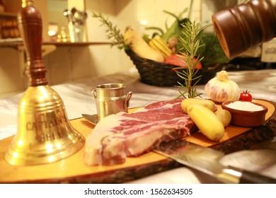 Restaurant dessert plat viande cuisine manger