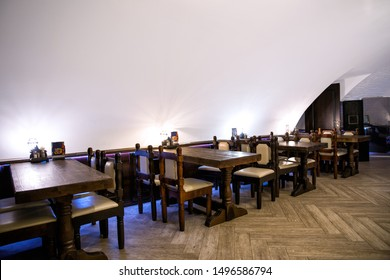 Restaurant interior with arched ceilings