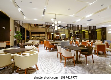 Restaurant interior in hotel