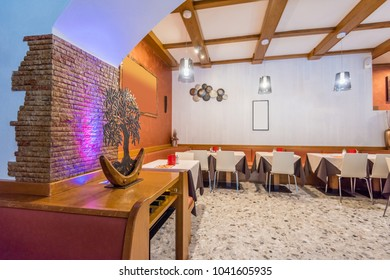 Restaurant interior. Italy.