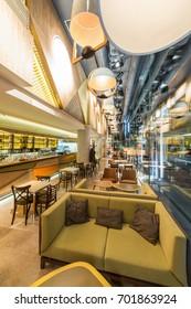 Restaurant interior in the night