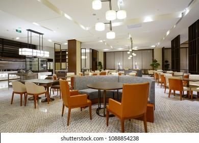 Restaurant interior part of hotel
