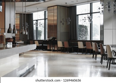 Restaurant interior, part of hotel