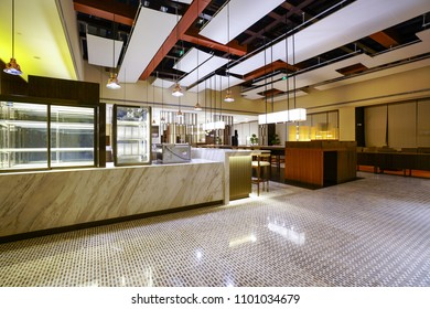 Restaurant interior part of luxury hotel
