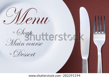 restaurant menu template daily menu plate stock photo edit now