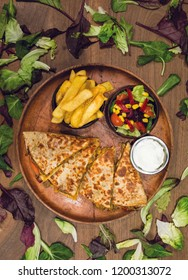restaurant quesadilla menu photo shoot