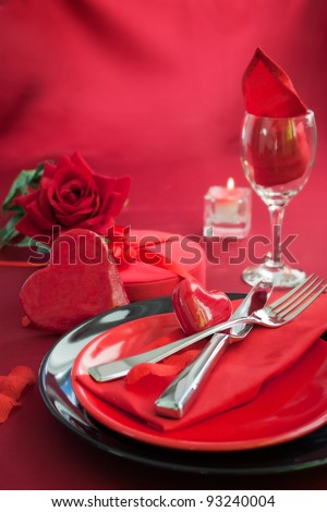 Restaurant Series Valentine Day Dinner Table Stock Photo Edit Now