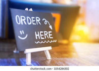 Brand new Order Here Sign Images, Stock Photos & Vectors | Shutterstock WA64
