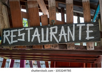 restaurant sign on wooden board, hand made restaurant sign -