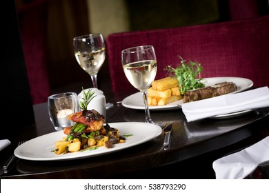 Image result for candle lit home dinner table for two - chicken, veggies and fries