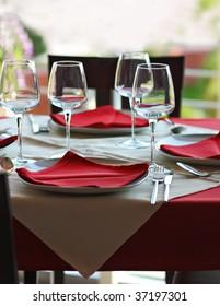 Restaurant table - shallow depth of field