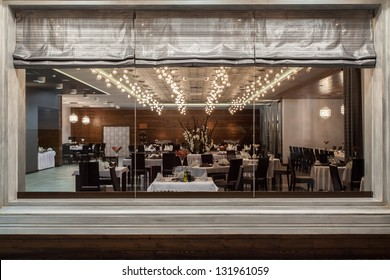 restaurant view through a huge window