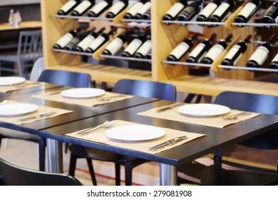 Restaurant with wine decoration