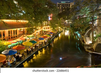 Restaurants along San Antonio riverwalk