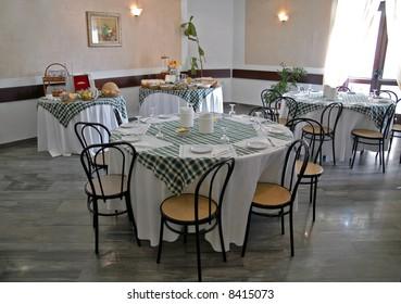 Restaurant's breakfast room