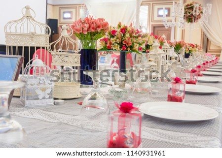 Restaurants Table Setting Wedding Reception Stock Photo Edit Now