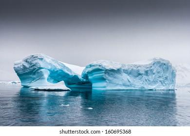 Restful iceberg near Almirante Brown, Antarctica