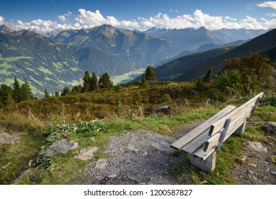 Resting place at zillertal strasse in alpine mountains, Tirol, Austria