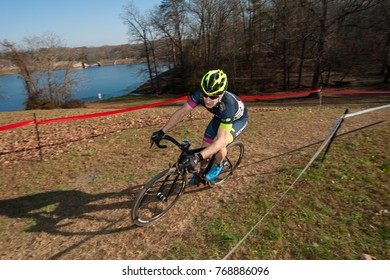 RESTON DECEMBER 3 – A cyclist competes in the Capital Cross Classic on December 3, 2017 in Reston, Virginia
