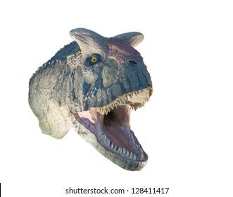 Restoration of a Carnotaurus (Carnotaurus sastrei) dinosaur isolated