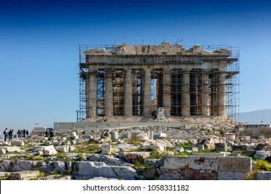 Restoration of Parthenon of Acropolis, Athens, Greece