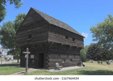 Restored Blockhouse on Hudson River
