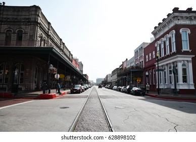 Restored buildings in Galveston Texas