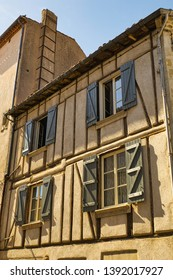 Restored half-timbered house in Castres in Southern France