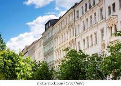 Restored old apartment building in Berlin, Germany Prenzlauer Berg District - Shutterstock ID 1758776975