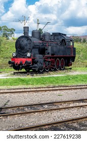 The restored old steam locomotive, worked for Polish railways