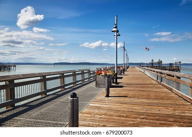 Restored Old Town Dock on Rushton Way in Tacoma's Commencement Bay