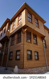 A restored old wooden house. Also a museum building, Hungarian and Turk.