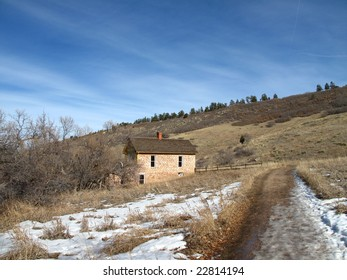 Restored Pioneer home in the Rocky Mountains