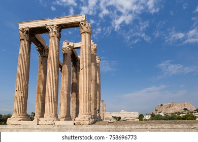 Restored ruins in Athens, Greece
