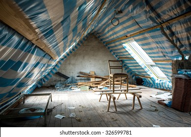 Restoring the attic of the house