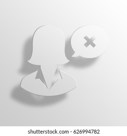 restricted 3D Paper Icon Symbol Business Concept