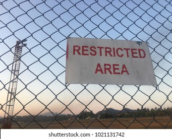 """Restricted area, no entry, Thai language on the sign means """"No entry"""""""