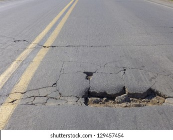 Restricted local government budgets are reflected in potholes and damaged roads