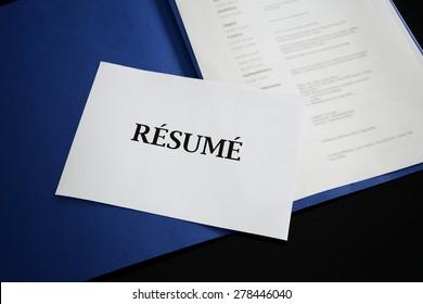 resume - application portfolio