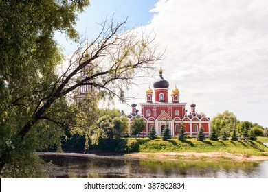 Resurection Cathedral, an orthodox church in Staraya Russa, a town in Novgorod District, Russia