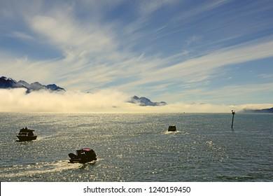 Resurrection Bay near Seward, North Pacific Ocean, Alaska, USA